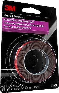 3M Auto Exterior Attachment Tape, 38582, 1/4 in x 5 ft: image