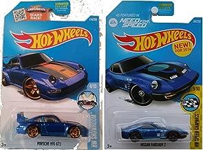 Hot Wheels 2016 Porsche 2-Car Set Blue Porsche 993 GT2 and Nissan Fairllady Z