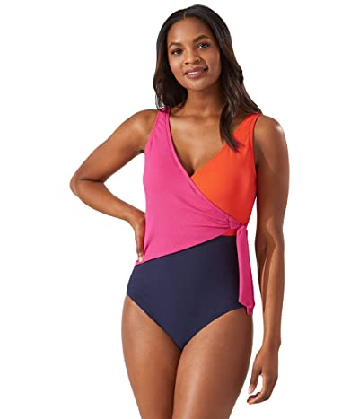 Tommy Bahama Island Cays Color-Block One-Piece