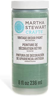 Martha Stewart Crafts 33524 Martha Stewart Vintage Decor Matte Chalk Eucalyptus, 8 oz Paint