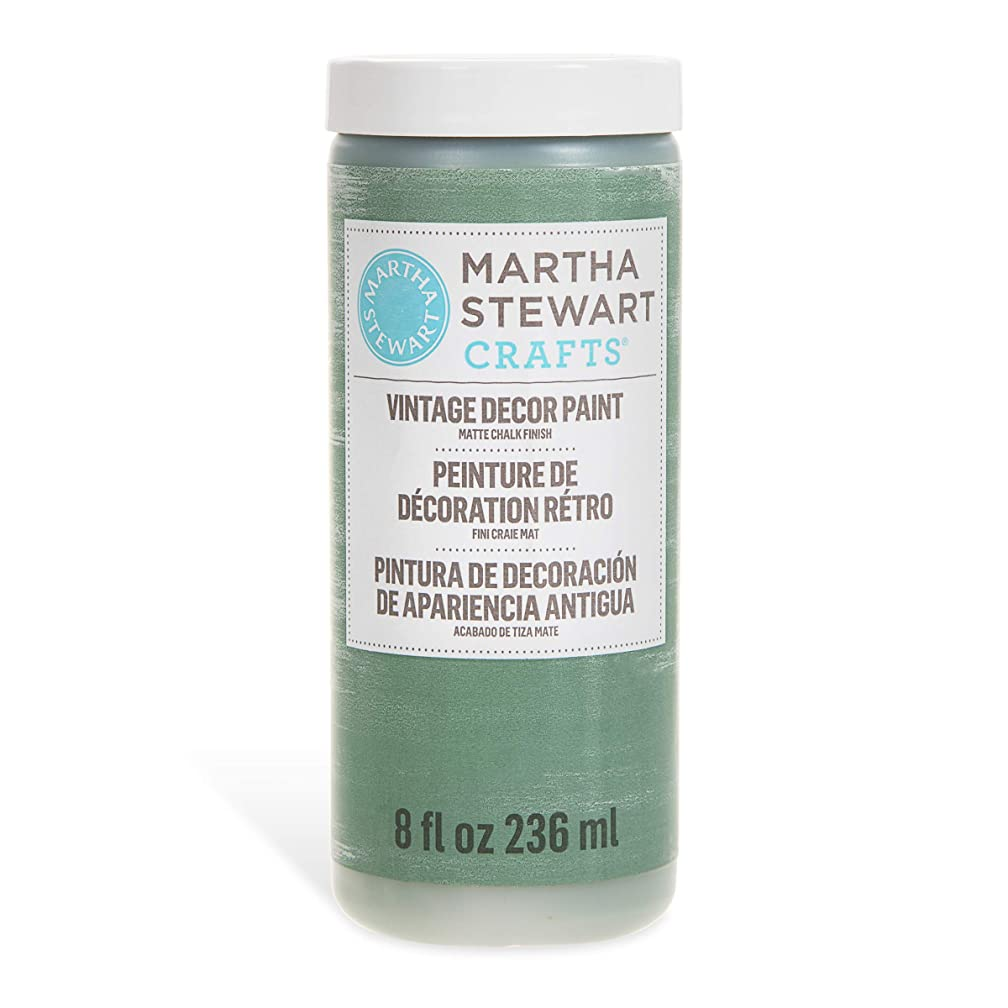 Martha Stewart Crafts 33524 Martha Stewart Vintage Decor Matte Chalk Eucalyptus, 8 oz Paint,