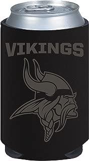 Minnesota Vikings 2-Pack Black Tonal CAN Koozie Neoprene Holder Cooler Football