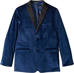 Blue Velvet Jacket (Big Kids)