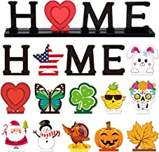 Home Table Decoration Set with 12 Pieces Wooden DecorativeSign Home Letter Sign Blessed Table Centerpiece Wooden Plaque f...