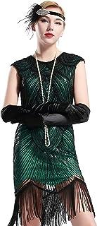 فساتين BABEYOND للنساء فلابر 1920s مطرز مهدب فستان غاتسبي رائع