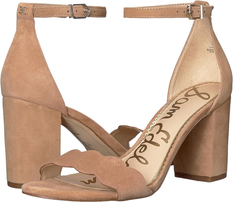 Sam Edelman Woherren Odila Ankle Strap Sandal Heel Camel Suede Leather 9.5 W US W