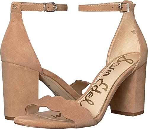 Sam Edelman Wohommes Odila Ankle Strap Sandal Heel Camel Suede Suede Suede Leather 9.5 W US W 1e7