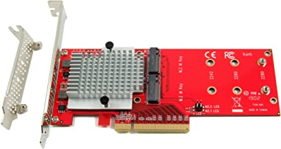 Ableconn PEXM2-130 Dual PCIe NVMe M.2 SSDs Carrier Adapter Card - PCI Express 3.0 x8 Card Support 2X M.2 NGFF PCIe NVMe SS...