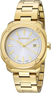 Wenger Men's Quartz Watch analog Display and Stainless Steel Strap, 01.1141.116