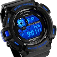 Fanmis Mens Military Multifunction Digital LED Watch Electronic Waterproof Alarm Quartz Sports...