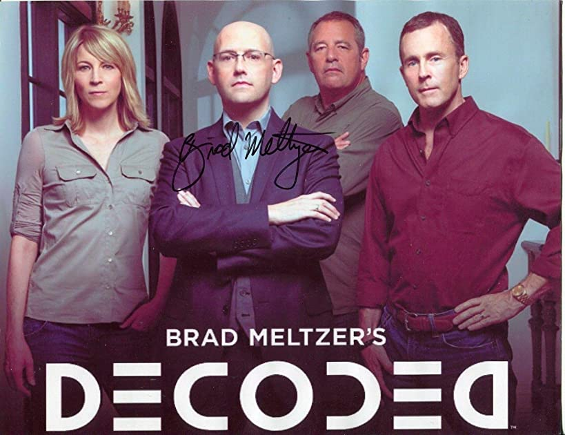 Brad Meltzer Identity Crisis Decoded Lost History Author Signed Autograph Photo