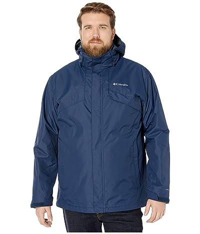 Columbia Big Tall Bugabootm II Fleece Interchange Jacket (Collegiate Navy/Dark Mountain Heather) Men