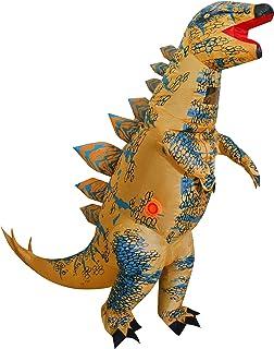 "Inflatable Dinosaur Costume for Kids, T-Rex Skeleton Stegosaurus Halloween Fancy Dress (Child (height 4'-4'11""), Stegosaurus)"