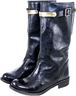 Silfer Shoes Stivale Donna -Stivale in Pelle - Made in Italy Colore Nero