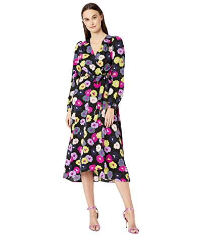 Kate Spade New York Winter Garden Midi Dress (Black) Women