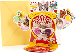 Hallmark Funny Pop Up Mother's Day Card with Song (Cat Queen, Plays Rule Britannia)