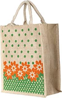 Heart Home Jute Lunch Carry Bag (Green)- CTHH19892