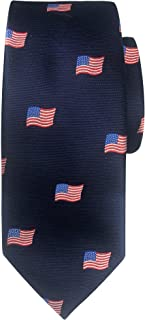 Jacob Alexander Boys' Woven American Flags USA Navy Neck Tie