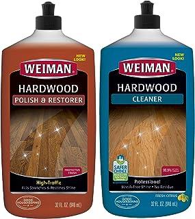 Sponsored Ad - Weiman Hardwood Floor Cleaner and Polish Restorer Combo - 2 Pack - High-Traffic Hardwood Floor, Natural Shi...