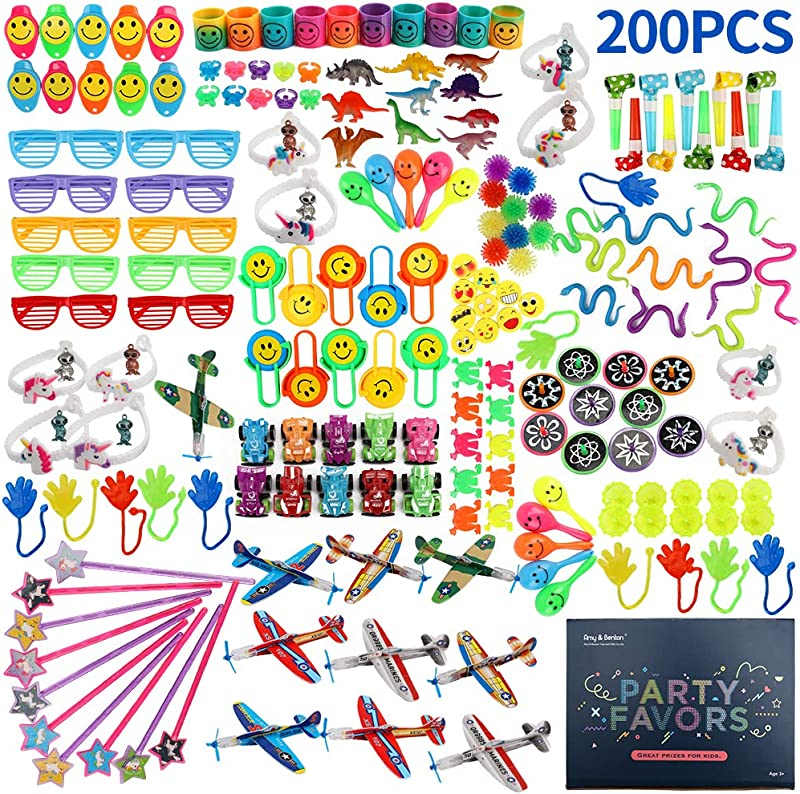 Amy Benton 200PCS Goodie Bag Fillers Party Favors For Kids Birthday Pinata Filler Toy Assortment Prizes For Kids Classroom Rewards