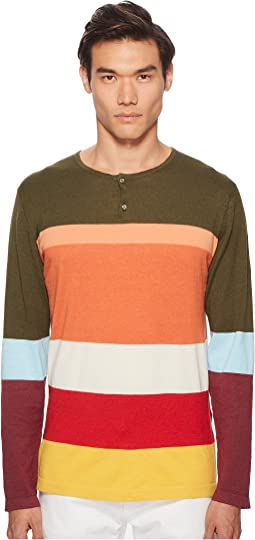 Color Block Henley Sweater