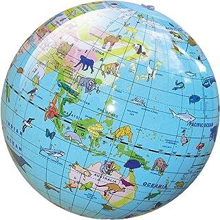 Tiger Tribe Inflatable Animal World Globe 30 cm