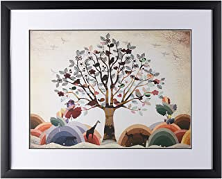 EBEI Framed Tree Wall Painting for Home DecorNordic Style Restaurants Hang Pictures Art Painting Decoration for Living Room Sofa Backdrop Bedroom Dining Room, Ready to Hang(16 20 1)