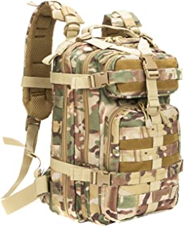 RXARMY Military Tactical Assault Backpack Hiking Bag Extreme Water Resistant Small Rucksack Molle Bag for Traveling, Camping, Trekking & Hiking