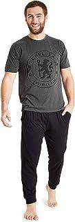 Chelsea F.C. Mens Pyjamas Set, Cotton Mens Pjs, Official Football Gifts for Men