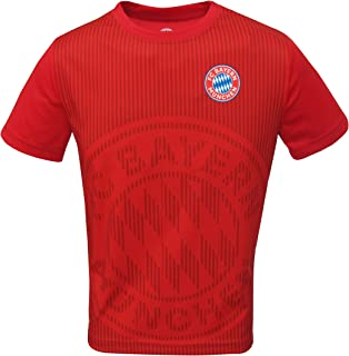 Junior Boys FC Bayern Munich Official Soccer Club Crew Neck Short Sleeve Jersey T Shirt Top