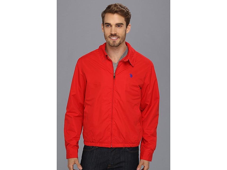 U.S. POLO ASSN. Micro Golf Jacket w/ Polar Fleece Lining (Engine Red) Men