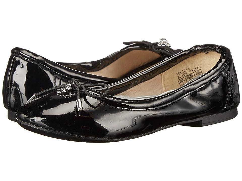 Sam Edelman Kids Felicia Ballet (Little Kid/Big Kid) (Black Patent) Girls Shoes