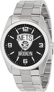 Gametime Elite Brooklyn Nets Men's Black Dial Stainless Steel Band Watch - NBA-ELI-BK