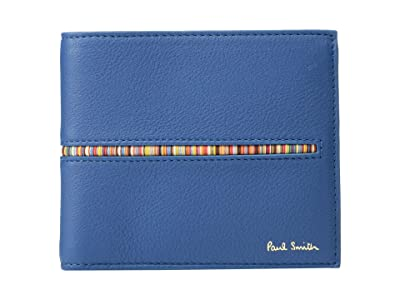 Paul Smith Insert Multi Stripe Bifold Wallet (Teal) Wallet