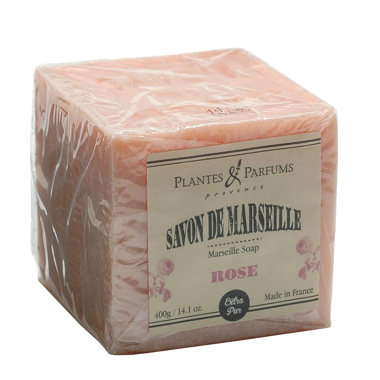 飾り羽赤道することになっているPlantes&Parfums [プランツ&パルファム] マルセイユソープ400g ローズ