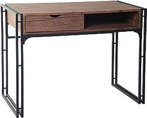 ts-ideen Design Scrivania Computer Tavolo di lavoro Consolle MDF effetto Legno e Metal
