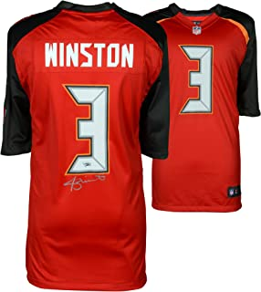 Jameis Winston Tampa Bay Buccaneers Autographed Red Nike Game Jersey - Fanatics Authentic Certified - Autographed NFL Jerseys