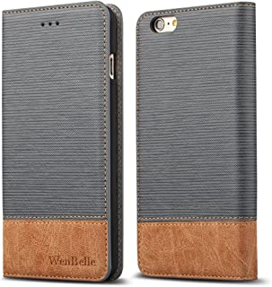 """WenBelle for iPhone 6s Plus 5.5"""" Wallet case, [Blazers Series] Wallet-Style,Stand Feature, isal Fabric and Leather-Look De..."""