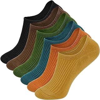 6 Pares Calcetines Cortos Hombre Multicolor Invisibles Respirable Calcetines tobilleros Algodón Antideslizantes