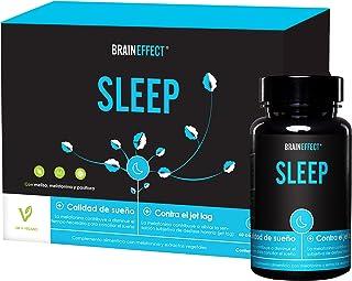 BRAINEFFECT SLEEP | 1mg Melatonina por porción | 60 cápsulas | Ayuda natural para dormir |
