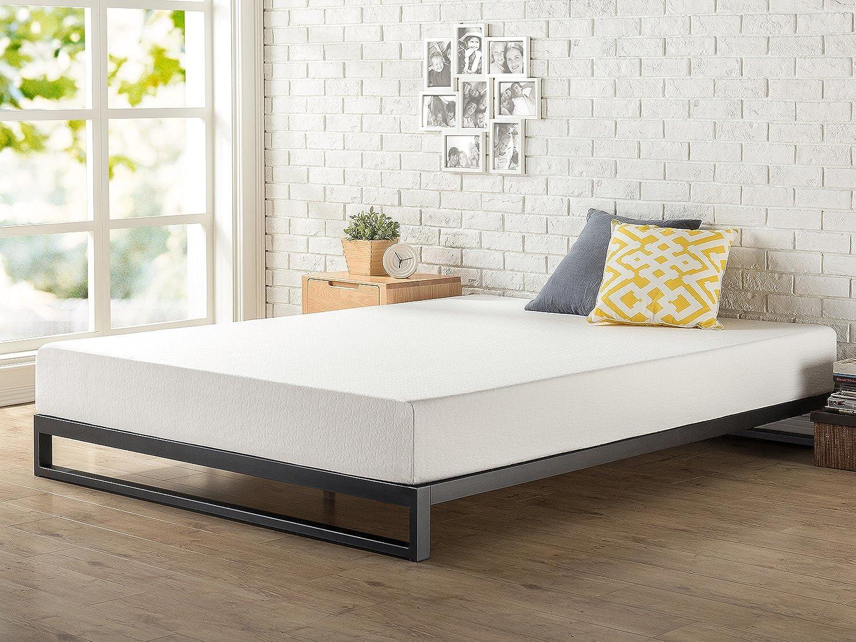 Zinus 7 Inch Heavy Duty Low Profile Platforma Bed Frame   Mattress Foundation   Boxspring Optional   Wood Slat Support, Full