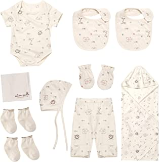 Best Newborn Gift Set | 100% Organic Certified Cotton | 10 Pieces | for Baby Boy or Girl