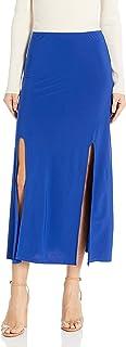 Star Vixen Women's Double Front Slit Ity Knit Maxi-Length Easy Pull-on Skirt