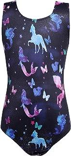 Zaclotre Girls Leotards Gymnastics Unicorn Outfits Sparkly Rainbow Mermaid Purple