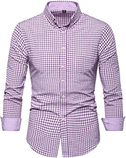 Camisa de Manga Larga de Gran tamaño para Hombre, Bloque de Color a Cuadros, Moda clásica, Casual, Simplicidad, Tendencia,...