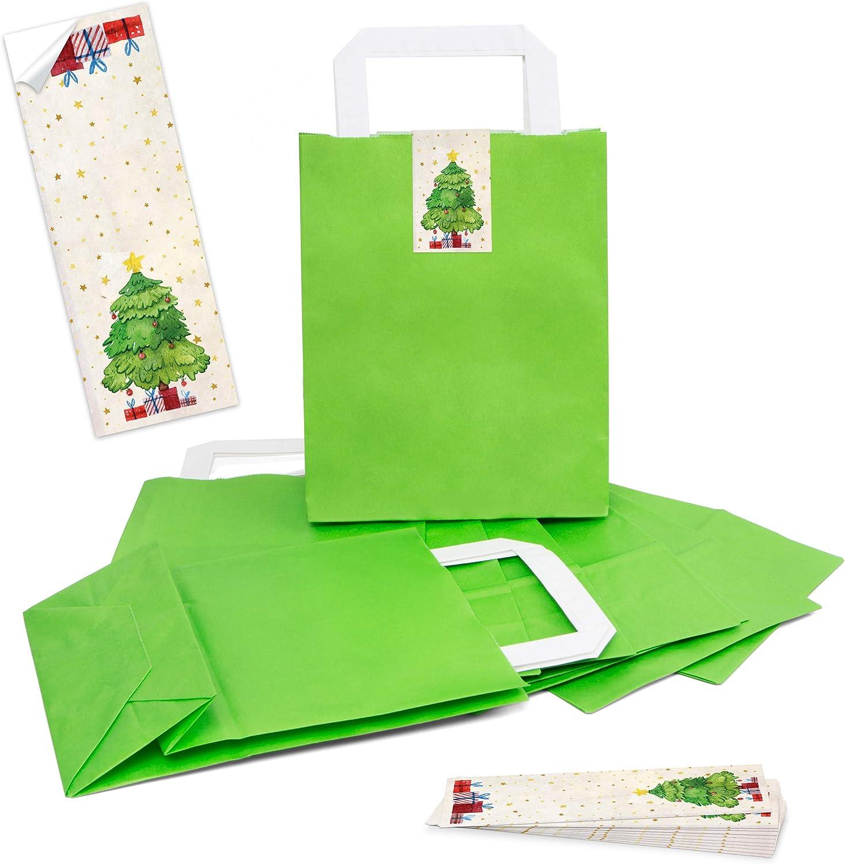 100 hell grüne natur natur natur Kraftpapier Papiertüte Geschenktasche Henkel mit Boden 18 x 8 x 22 cm  100 Aufkleber BAUM rot grün beige Geschenk Verpackung Weihnachten bio weihnachtlich B07GR3Z5XT   Sale Düsseldorf  e83af6