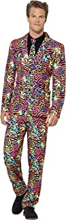 Smiffys Men's Neon Suit, Stand Out Suit, Jacket, Pants and Tie, Stand Out Suits, Serious Fun, Size