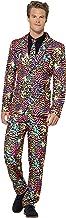 Smiffys 41585L - Herren Neon Anzug, Größe: L, mehrfarbig