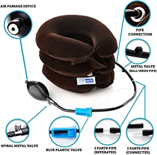 EasyNeck Best Cervical Neck Traction Device & Collar Brace, FDA Approved Inflatable & Adjustable Neck Support & Stretcher is Ideal for Spine Alignment & Chronic Neck Pain Relief