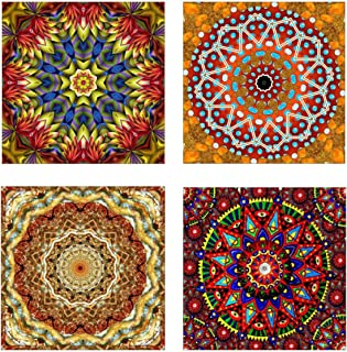 5D Diamond Painting Kits, 4 Pack DIY Full-Crystal Rhinestone Painting-Diamond Dots for Study Room,Flower Painting -Wall Dé...